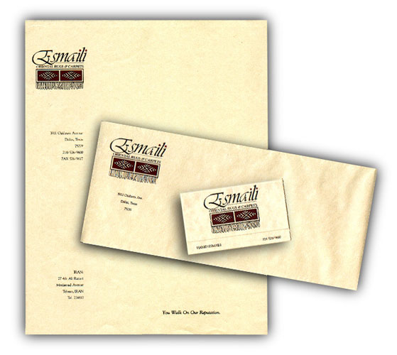 Esmaili Oriental Rugs stationary